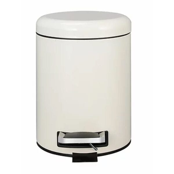 DUSTBIN DOME LID HD CREAM PEDAL BIN A